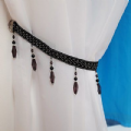 PAIR OF CRYSTAL BEADED  GLITTER  BRAID TIEBACK (FREE POSTAGE)